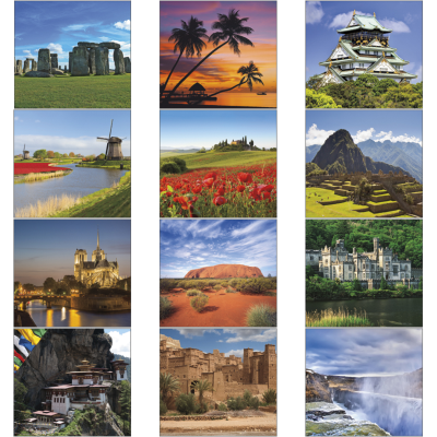 Picture of Glorious Getaways Mini Wall Calendar