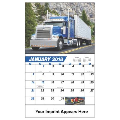Picture of 18 Wheeler Wall Calendar
