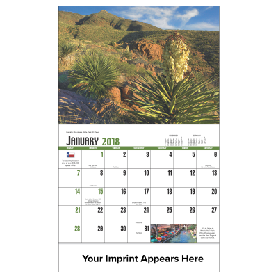 Picture of Texas State Wall Calendar