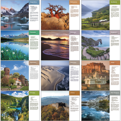 Picture of World Scenes with Recipes Wall Calendar