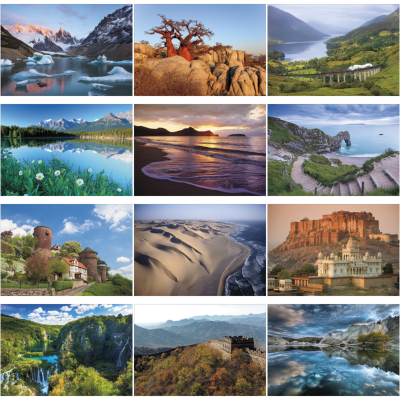 Picture of World Scenic Large Wall Calendar
