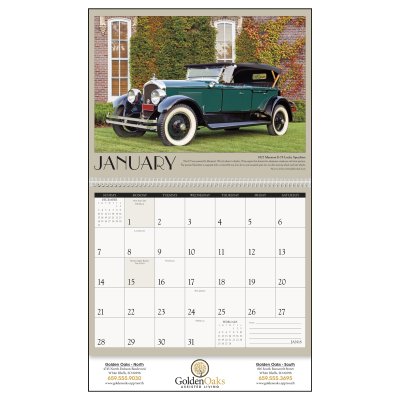 Picture of Antique Cars Wall Calendar