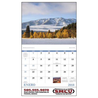 Picture of Landscapes Of America, Spanish Version Wall Calendar