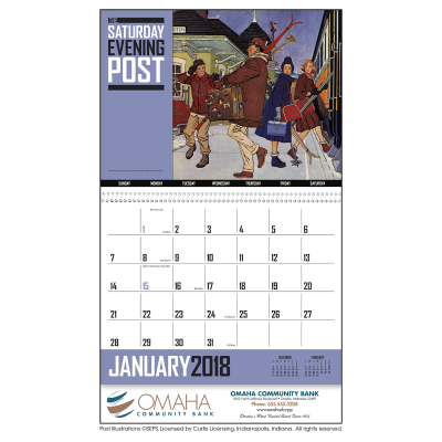 Picture of The Saturday Evening Post Wall Calendar - Spiral