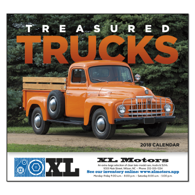 Picture of Treasured Trucks Wall Calendar