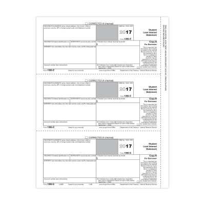 Picture of Form 1098-E - Copy B Borrower (5186)