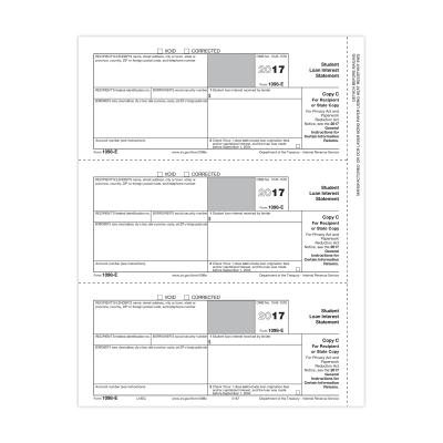 Picture of Form 1098-E - Copy C Recipient (5187)