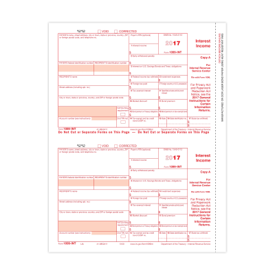 Picture of Form 1099-INT - Copy A Federal (5120)