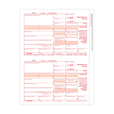 Picture of Form 1099-MISC - Copy A Federal (5110)