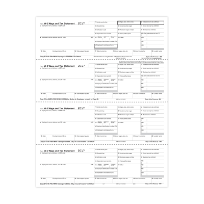 Picture of Form W-2 - Employee Copies - Condensed - 4up (5206)