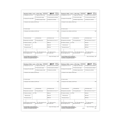 Picture of Form W-2 - Employer Copies - Condensed - 4up Version 1 (5405)