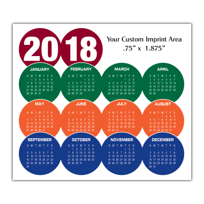 Picture of Calendar Magnet - Circles