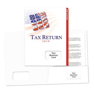 Picture of Success Tax Return Folders (Patriotic Keypad)