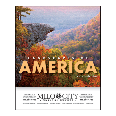 Picture of Landscapes of America Mini Wall Calendar