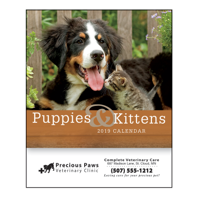 Picture of Puppies & Kittens Mini Wall Calendar