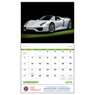 Picture of Exotic Sports Cars Wall Calendar