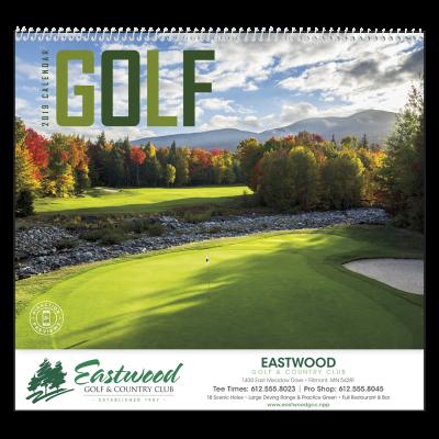 Picture of Golf Wall Calendar - Spiral