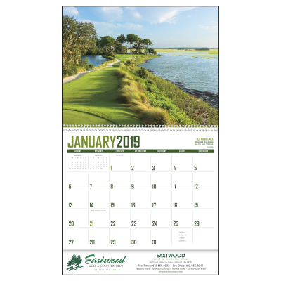 Picture of Golf Wall Calendar - Spiral