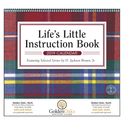 Picture of Life's Little Instruction Book Wall Calendar