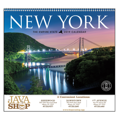 Picture of New York State Wall Calendar - Spiral
