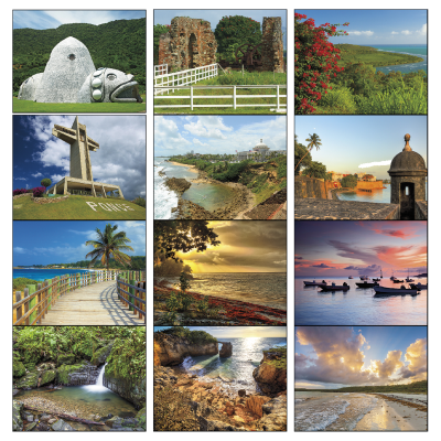 Picture of Puerto Rico Scenic Wall Calendar