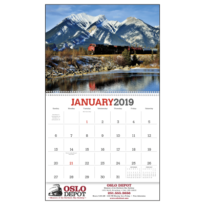 Picture of Trains Wall Calendar
