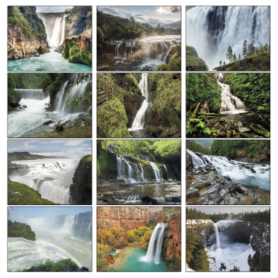 Picture of Waterfalls Wall Calendar