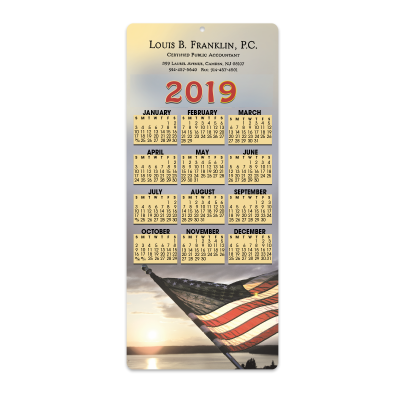 Picture of Flag Envelope-Size Calendar