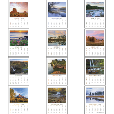 Picture of Scenic Stick-On Calendar