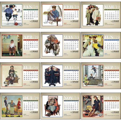 Picture of The Saturday Evening Post Large Desk Calendar