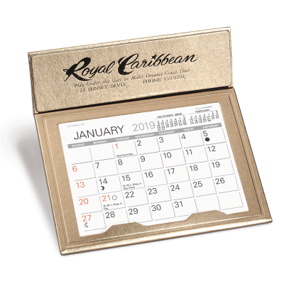 Picture of Gold Crown Desk Calendar