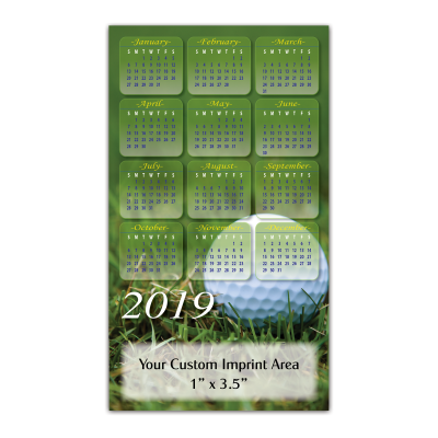 Picture of Calendar Magnet - Golf Ball
