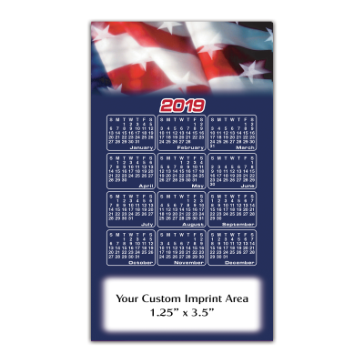Picture of Calendar Magnet - Patriotic Flag