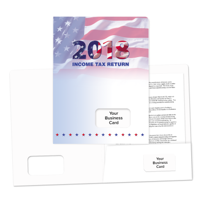 Picture of Success Tax Return Folders (Year With Flag)