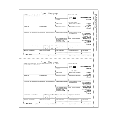 Picture of Form 1099-MISC - Copy C Payer (5112)