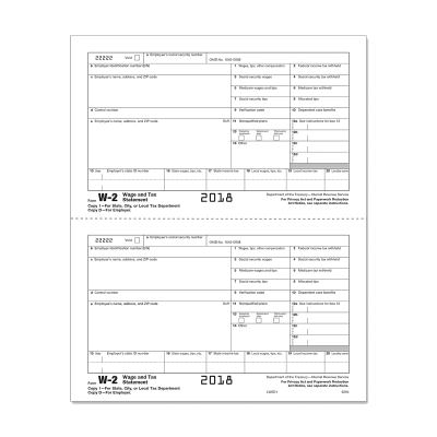 Picture of Form W-2 - Copy 1 - Employer State, City, or Local - 2up (5204)