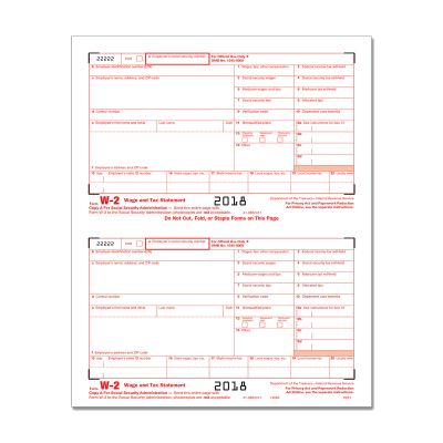 Picture of Form W-2 - Copy A - 2up (5201)