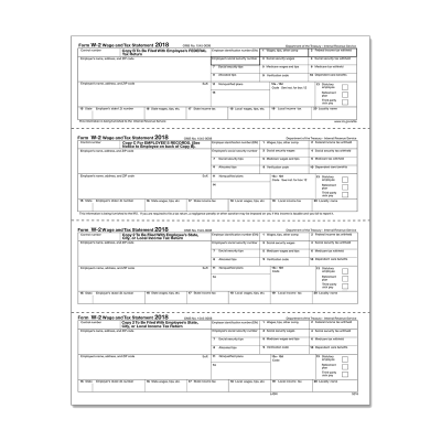 Picture of Form W-2 - Employee Copies - Condensed - 4up - Version 2 (5218)