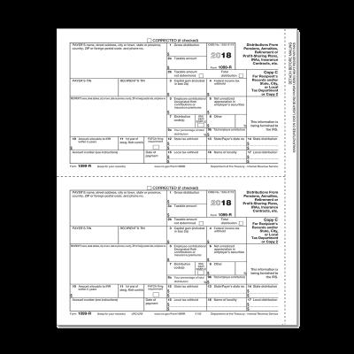Picture of Form 1099-R - Copy C/ 2 Recipient (5142)