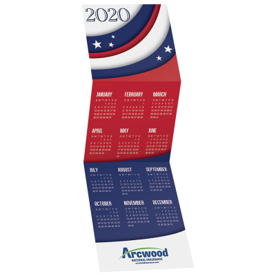 Picture of USA Tri-Fold Greeting Card Calendar