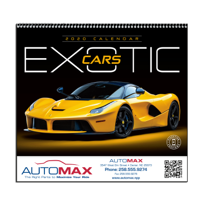 Picture of Exotic Cars Wall Calendar