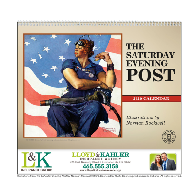 Picture of The Saturday Evening Post Wall Calendar Featuring Illustrations by Norman Rockwell