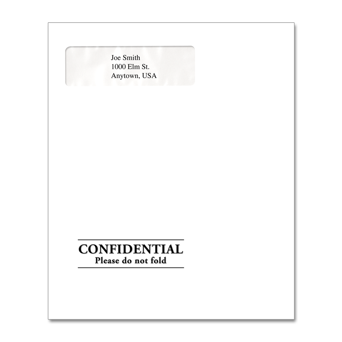 Confidential & Window | Tax Return Envelope | Mines Press