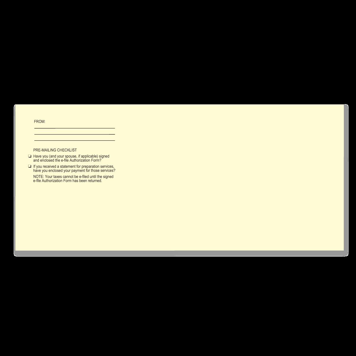 e-File Authorization | Tax Return Envelopes | Mines Press