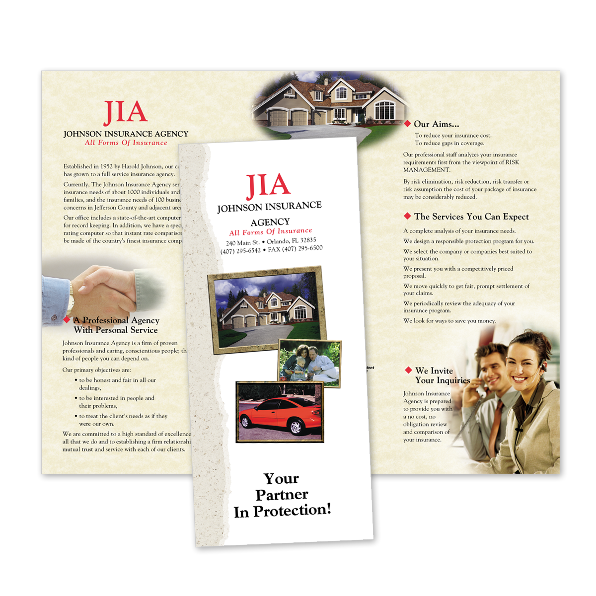 Insurance Agency Brochure | Protection | Mines Press