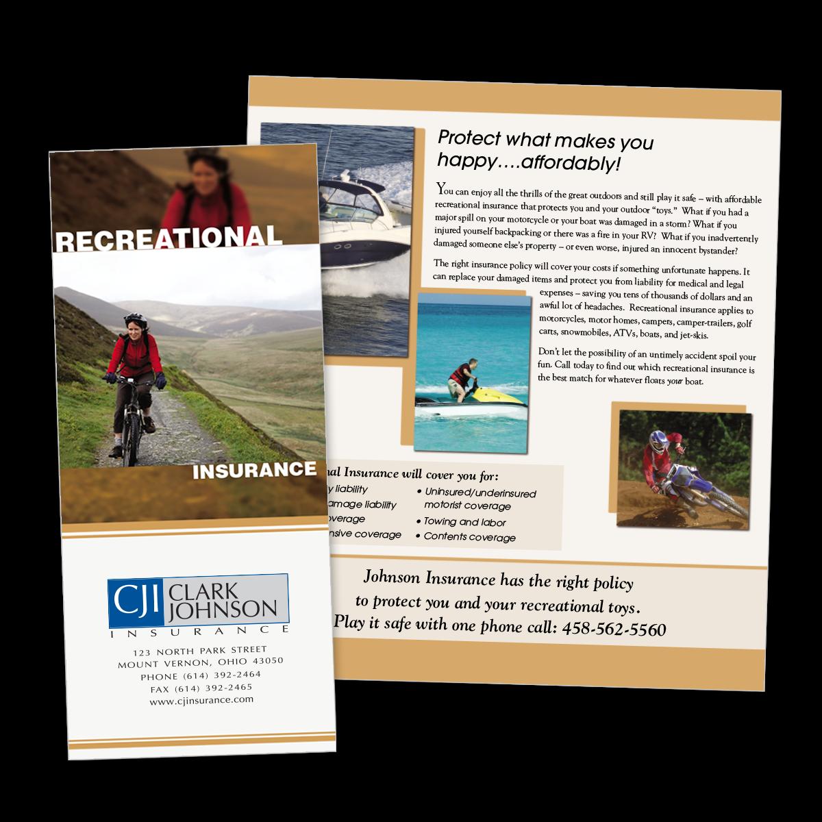 insurance brochure
