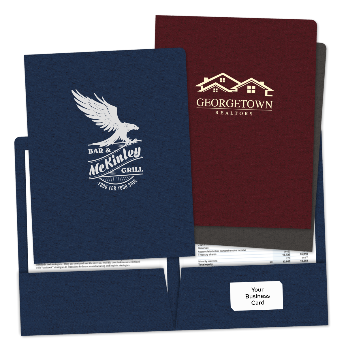 Custom Pocket Folders | Full Color Folders | Mines Press