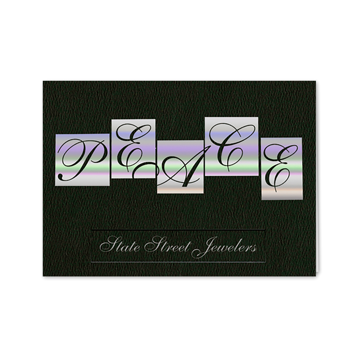 Holographic peace greeting card mines press picture of holographic peace greeting card kristyandbryce Gallery