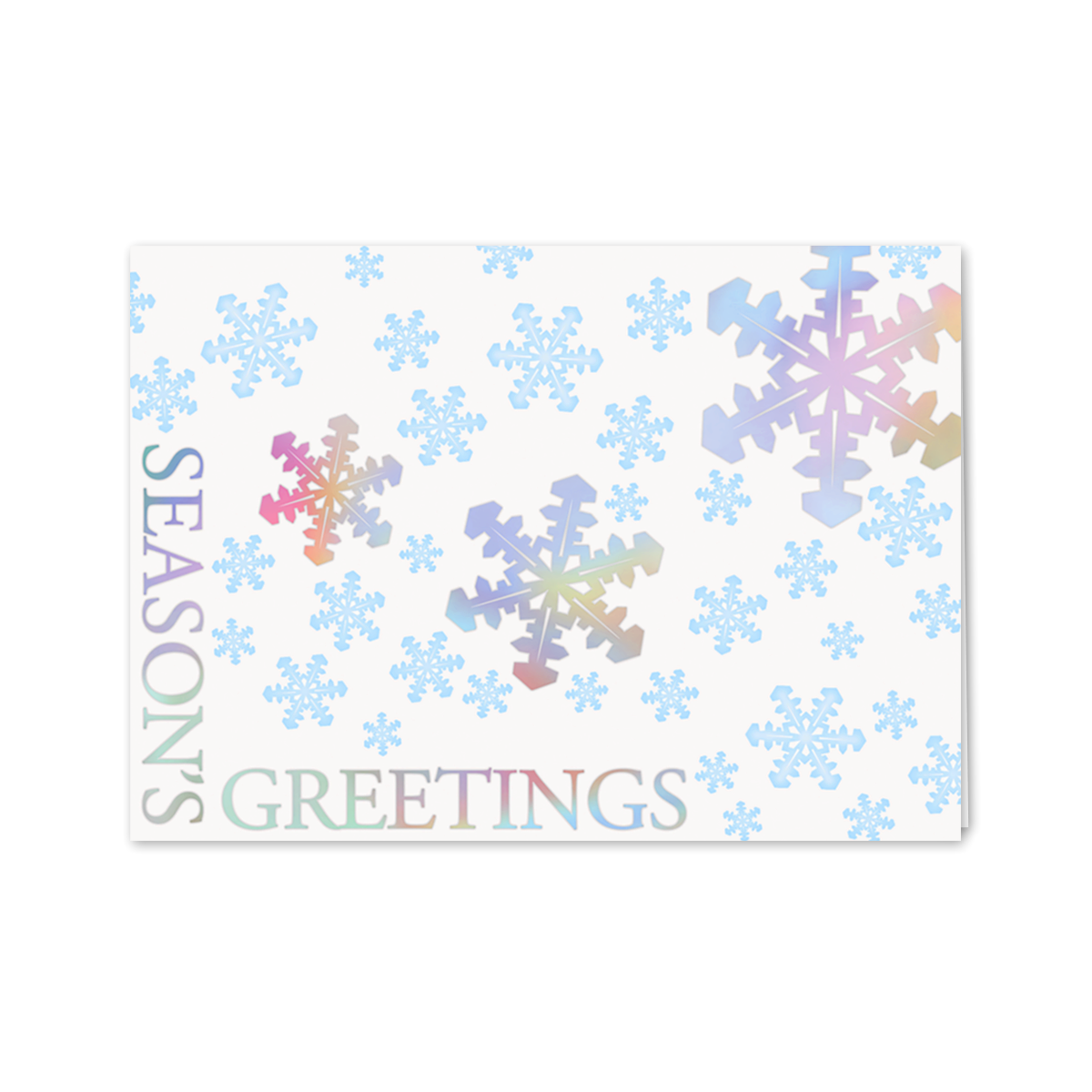 Holographic snowflakes greeting card mines press picture of holographic snowflakes greeting card kristyandbryce Gallery