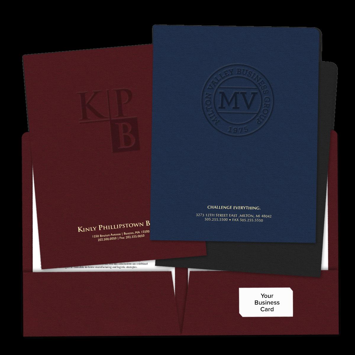 Embossed 2-Pocket Folders | Mines Press